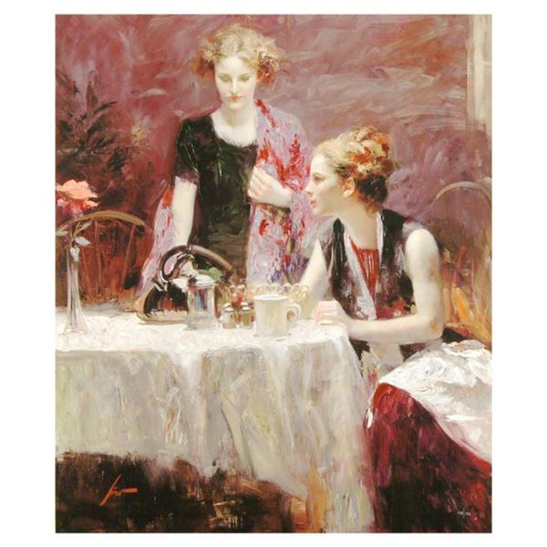 """Pino (1939-2010), """"After Dinner"""" Limited Edition on Canvas, Numbered and Hand Signed with Certificat"""