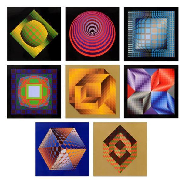 "Victor Vasarely (1908-1997)- Heliogravure prints ""Progressions 3 Portfolio"""
