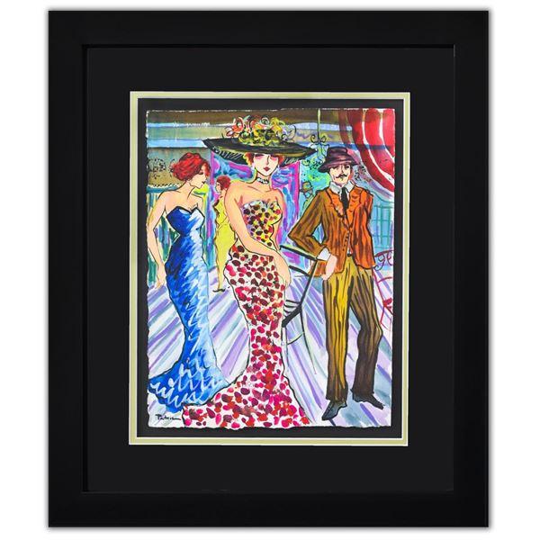 "Patricia Govezensky- Original Watercolor ""Dance Floor"""