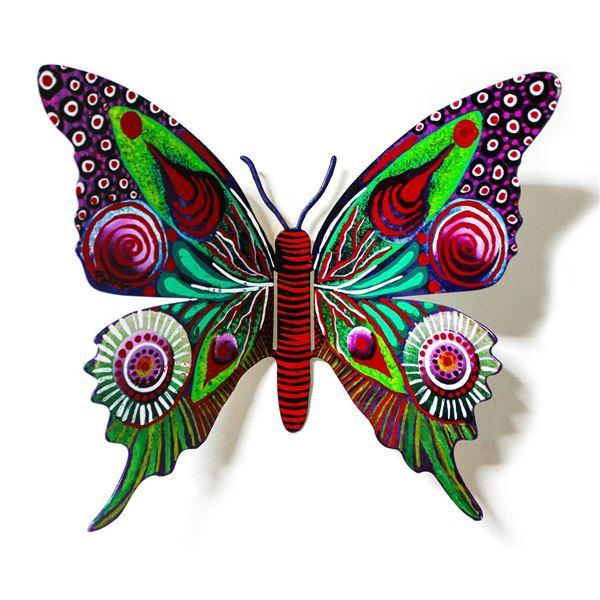 "Patricia Govezensky- Original Painting on Cutout Steel ""Butterfly CXXXI"""