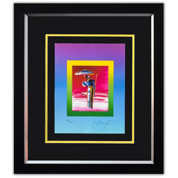 """Peter Max- Original Lithograph """"Sage with UMBRELLA and Cane on Blends"""""""