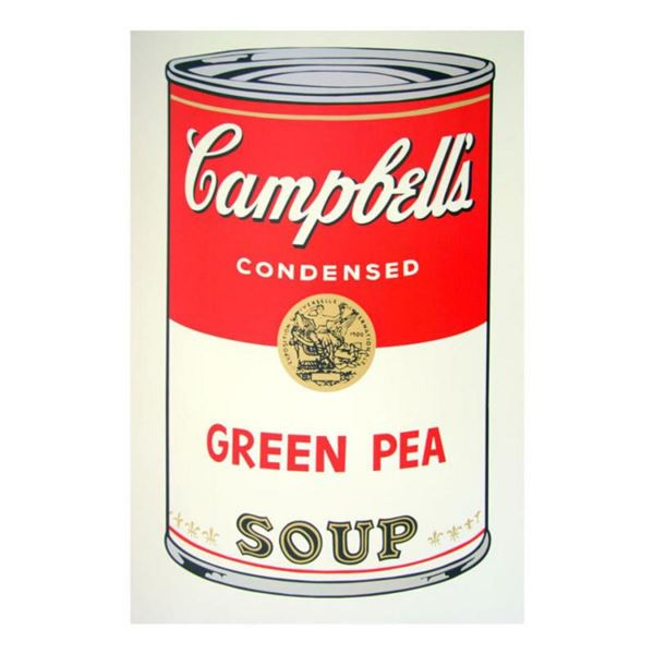 """Andy Warhol """"Soup Can 11.50 (Green Pea)"""" Silk Screen Print from Sunday B Morning."""