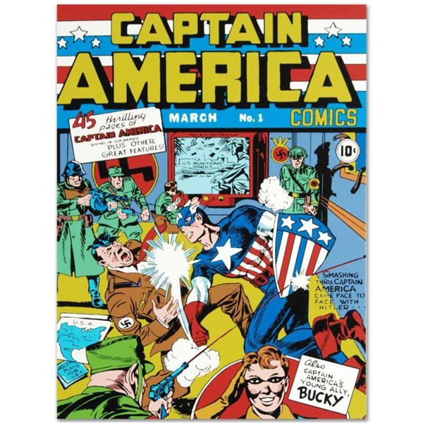 """Marvel Comics """"Captain America Comics #1"""" Numbered Limited Edition Giclee on Canvas by Jack Kirby (1"""
