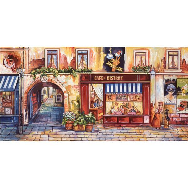 "Alexander Borewko- Original Giclee on Canvas ""Lighted Road"""