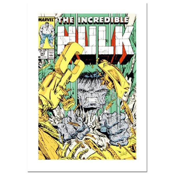 """Stan Lee Signed, """"The Incredible Hulk #343"""" Numbered Marvel Comics Limited Edition Canvas by Todd Ma"""