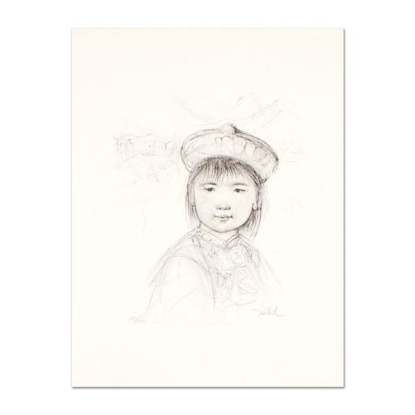 """Edna Hibel (1917-2014), """"Chu Lu"""" Limited Edition Lithograph with Remarque, Numbered and Hand Signed"""
