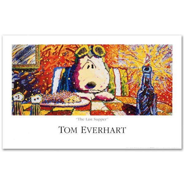 """""""Last Supper"""" Fine Art Poster by Renowned Charles Schulz Protege Tom Everhart."""