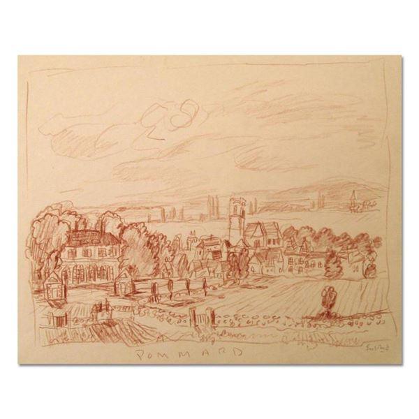 "Wayne Ensrud ""View of Pommard, Burgundy"" Pastel Original Artwork; Hand Signed; COA"