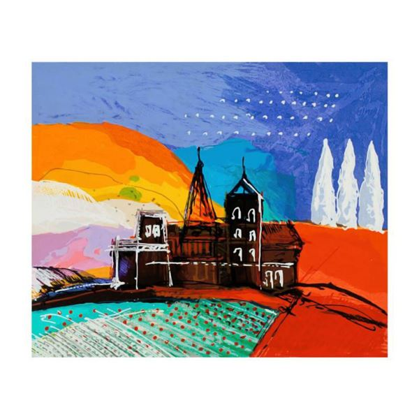 """Calman Shemi, """"Tuscany Hill"""" Limited Edition Serigraph, Numbered and Hand Signed with Letter of Auth"""