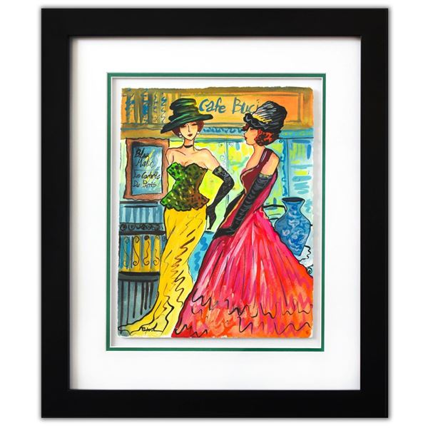 "Patricia Govezensky- Original Watercolor ""Lorena & Noemia"""