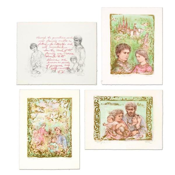 """Edna Hibel (1917-2014), """"The Family Suite Edition I"""" 4-Piece Limited Edition Lithograph Suite, Numbe"""