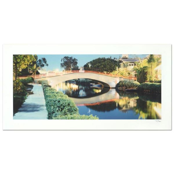 """Robert Sheer, """"Spirit Gondoliers at the Venice Canals, CA"""" Limited Edition Single Exposure Photograp"""