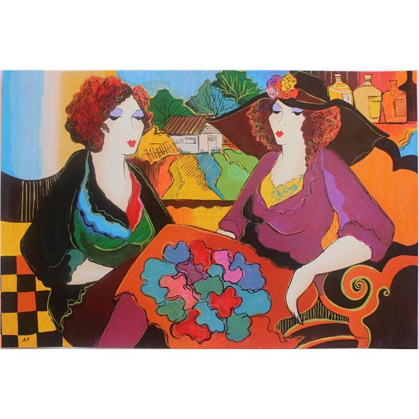 "Patricia Govezensky- Original Serigraph on Paper ""Villa Saint Tropez"""
