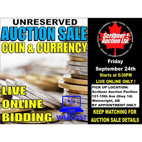 3 DAY AUCTION : SEPT 24-25-26