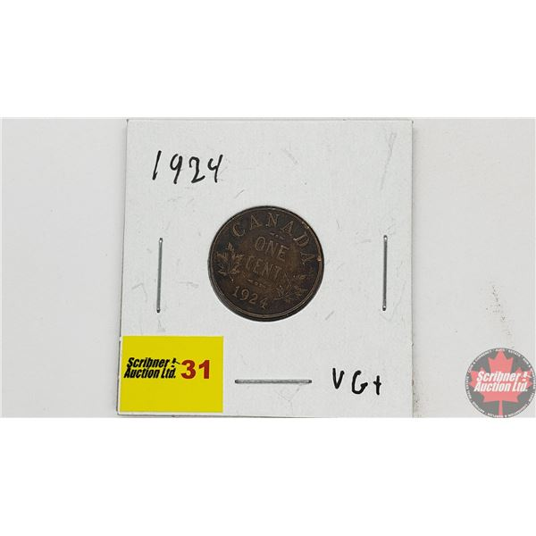 Canada Large Cent 1924