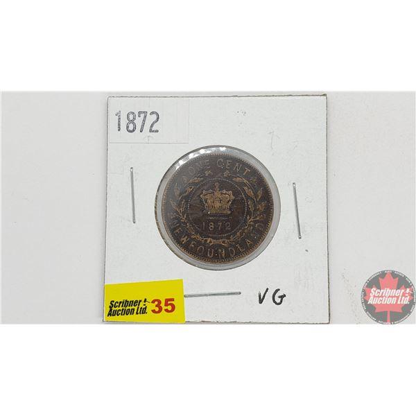 Newfoundland Large Cent 1872