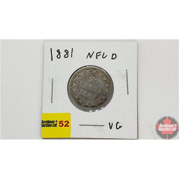 Newfoundland Twenty Cent 1881