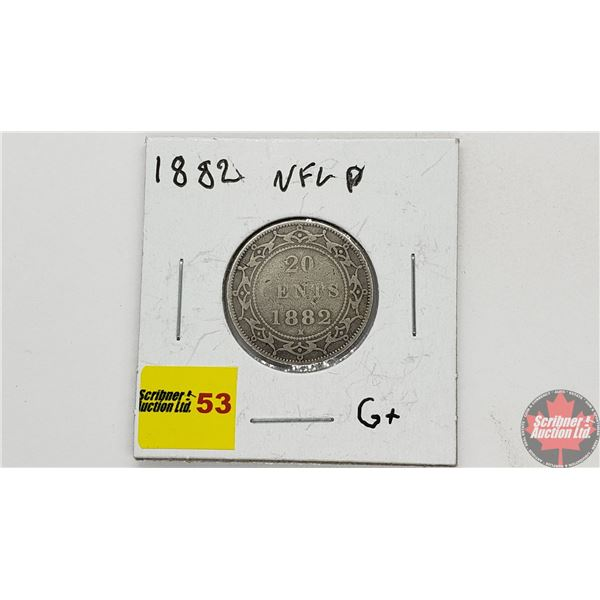 Newfoundland Twenty Cent 1882