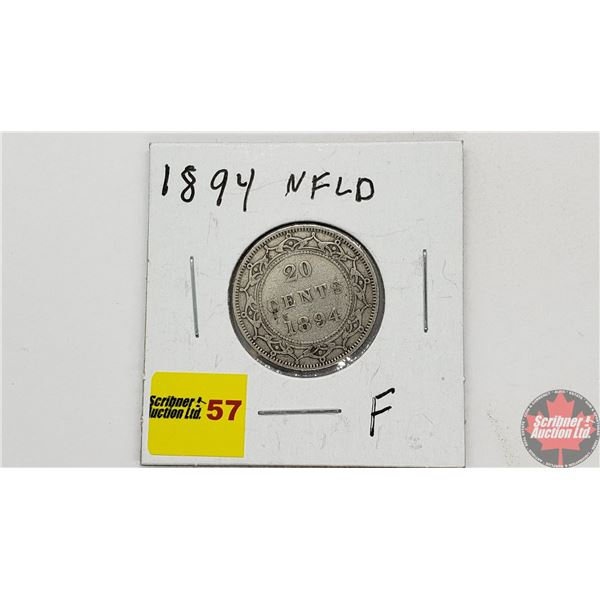 Newfoundland Twenty Cent 1894