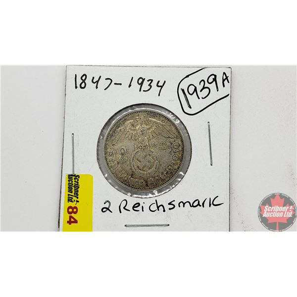 Germany (Wartime) 2 Reichsmark 1939A