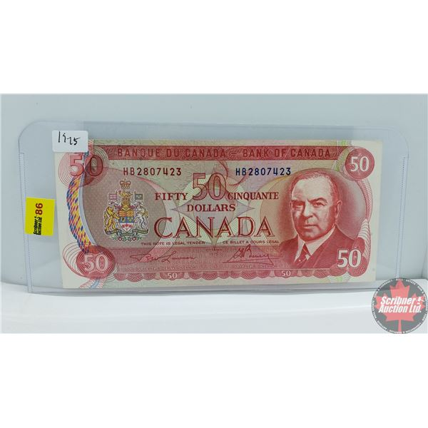 Canada $50 Bill 1975 : Lawson/Bouey HB2807423 (See Pics for Signatures/Serial Numbers)