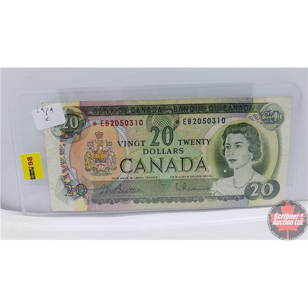Canada $20 Bill 1969 *Replacement : Beattie/Rasminsky *EB2050310 (See Pics for Signatures/Serial Num