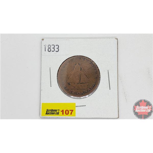 Upper Canada Bank Token 1833 To Facilitate Trade