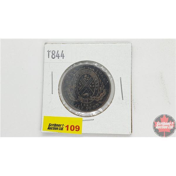 Bank Token Half Penny 1844 Province of Canada Bank of Montreal