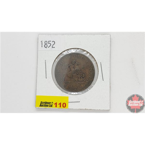 Bank of Upper Canada Half Penny 1852 Bank Token