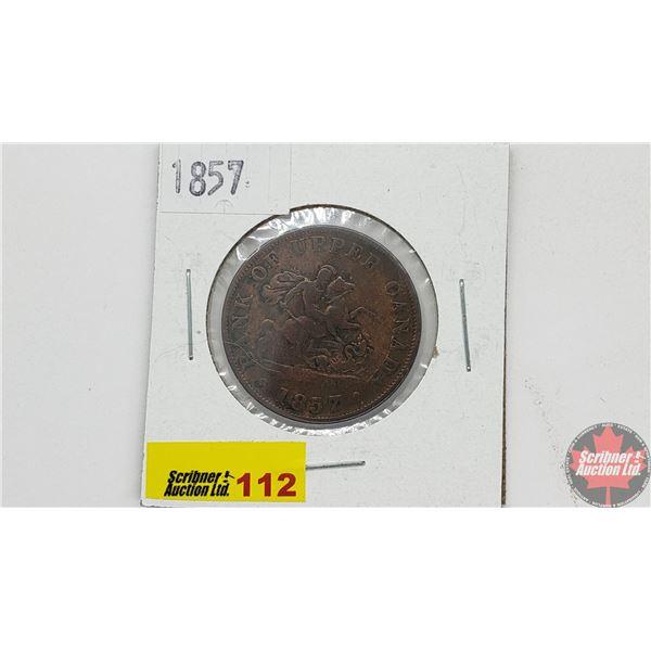 Bank of Upper Canada Half Penny 1857 Bank Token