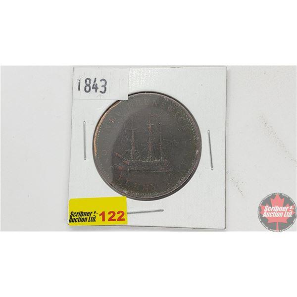 New Brunswick One Penny Token 1843