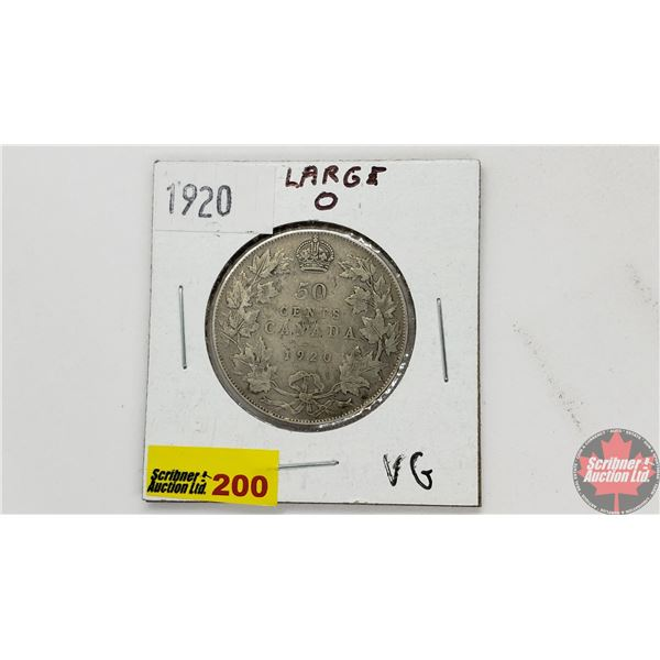 Canada Fifty Cent 1920 (Large O)