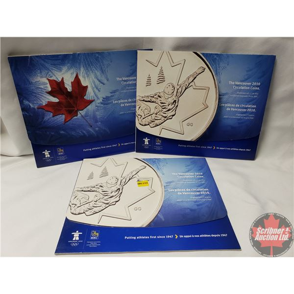 Vancouver 2010 Coin Collector Sets (3) (Note: One card missing one card) (Note: See pics for varieti