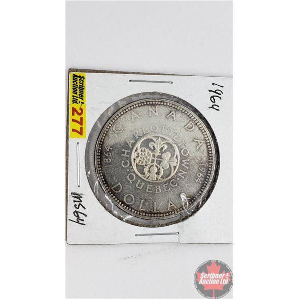 Canada Silver Dollar 1964 Charlottetown
