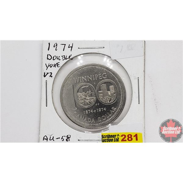 "Canada Silver Dollar 1974 Winnipeg ""Double Yoke"""