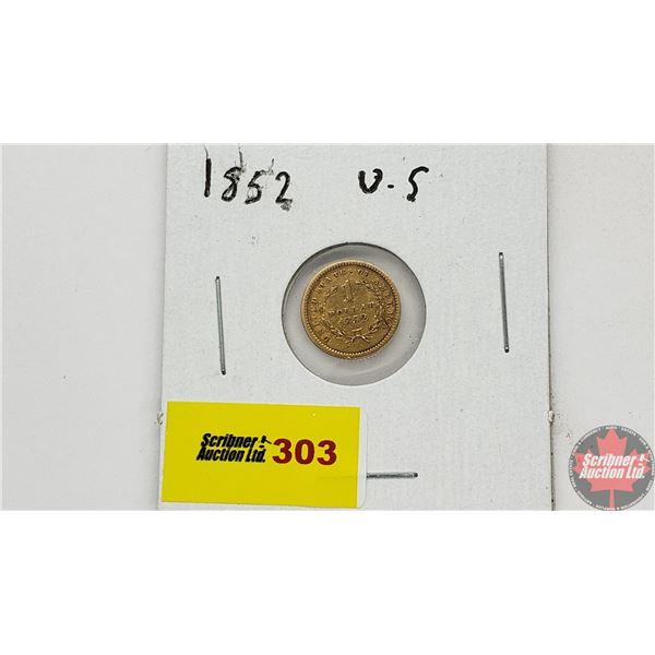 United States of America 1 Dollar 1852 - Gold (.900)