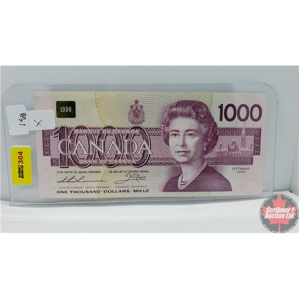 Canada $1000 Bill 1988 *Replacement (Thiessen/Crow EKX0079346)