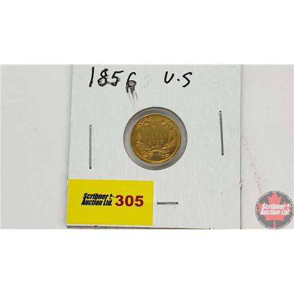United States of America 1 Dollar 1856 - Gold (.900)