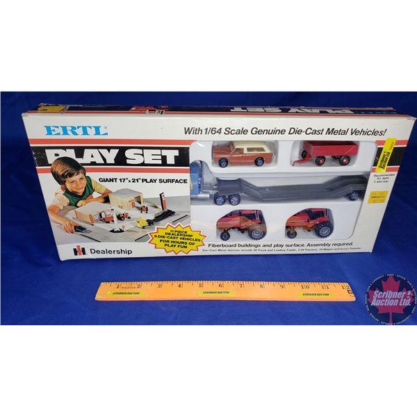 ERTL Playset IH Dealership - Genuine Die Cast Metal Vehicles (Scale: 1/64)