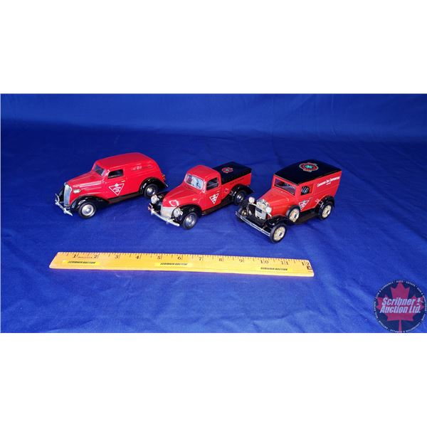 Die cast Coin Bank Trio : Canadian Tire - Limited Edition (Liberty Classics) (See Pics for Varieties