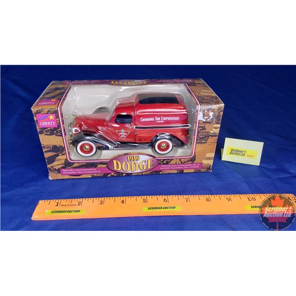 """Liberty Classics : Coin Bank (1936 Dodge) """"Canadian Tire Corporation"""" Limited Edition"""