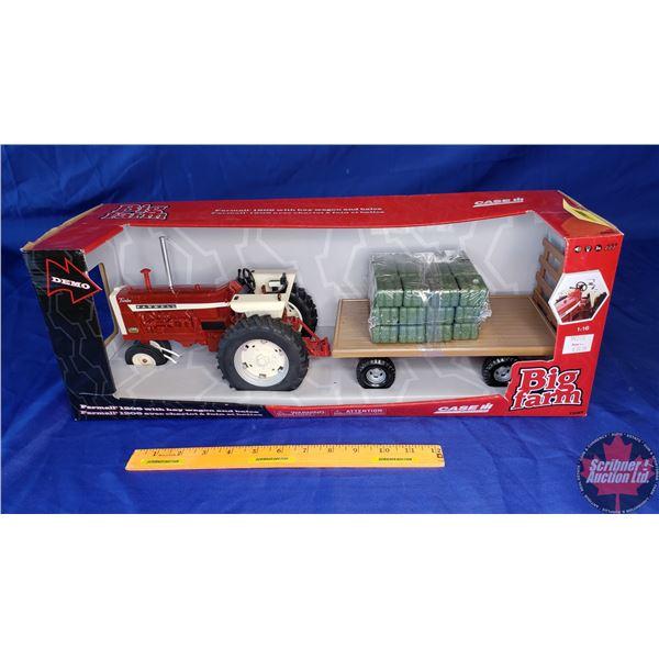 """CASE IH Farmall 1206 with Hay Wagon & Bales """"Big Farm"""" (Scale: 1/16)"""
