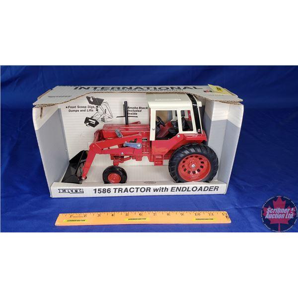 "International 1586 Tractor w/Endloader"" (Scale: 1/16)"