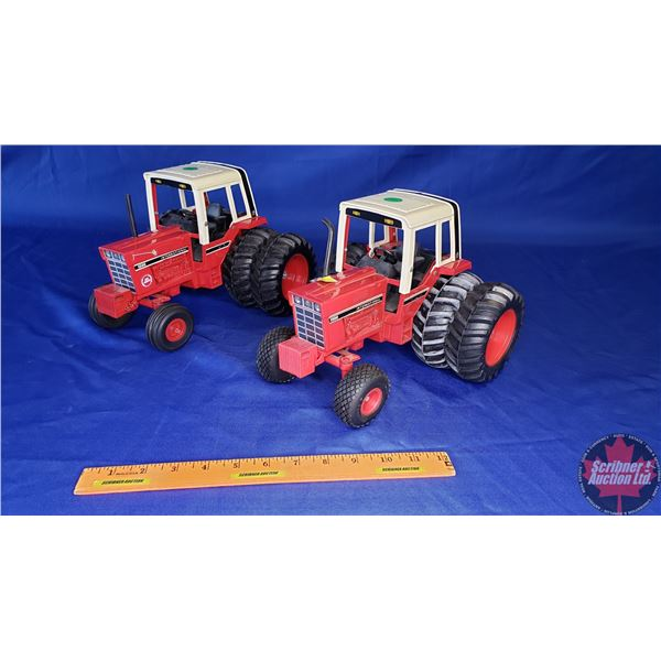 """IH 1586 (2): Both w/Duals (1 is """" Red Power"""") (1 is w/Turf Saver Front Tires) (See Pics) (Scale: 1/1"""