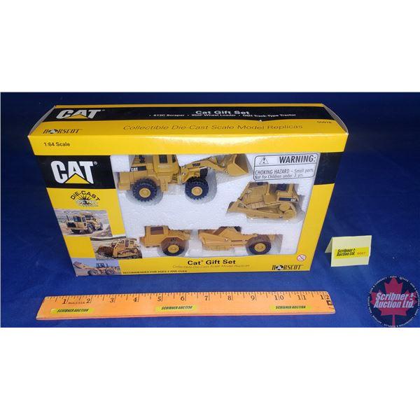 CAT Gift Set (613C Scraper, 950F Wheel Loader, D6H Track Type Tractor) (Scale: 1/64)