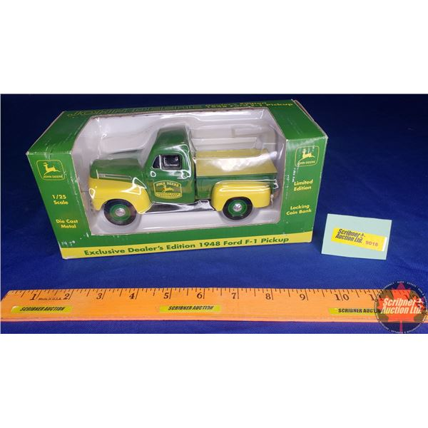 John Deere : Locking Coin Bank  (Exclusive) Dealers Edition 1948 Ford F-1 Pick Up (Scale: 1/25)