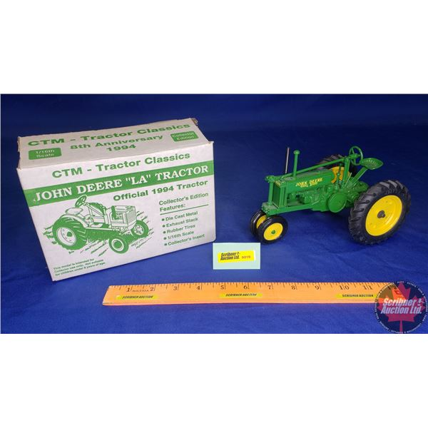 John Deere Model LA : Limited Collector Edition (Official 1994 Tractor) CTM 8th Anniversary (Scale: