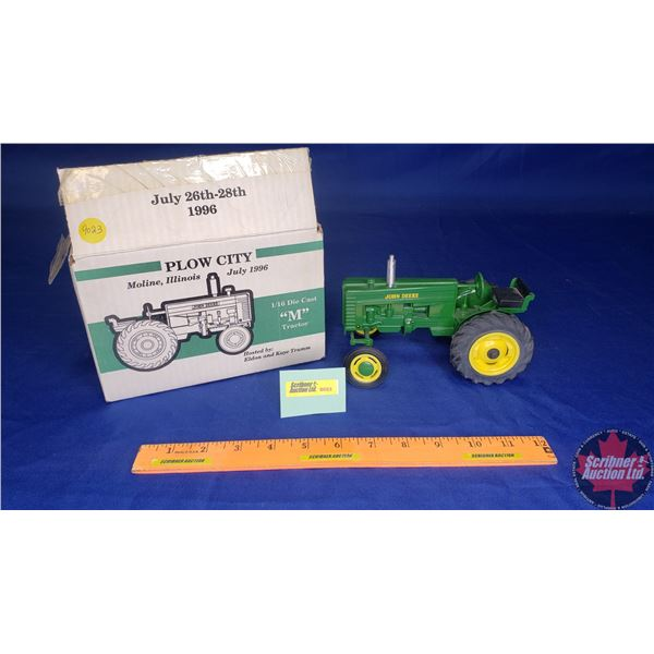"""John Deere """"M"""" Tractor : Plow City Toy Show July 1996 (Scale: 1/16)"""
