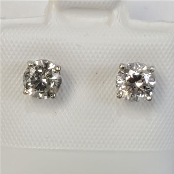 14K DIAMOND(0.8CT) EARRINGS