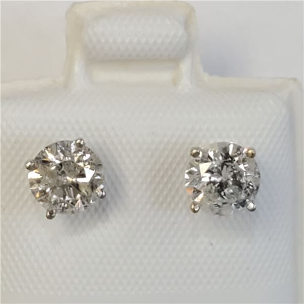 14K DIAMOND(1.18CT) EARRINGS